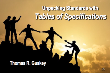 Unpacking Standards with Tables of Specifications
